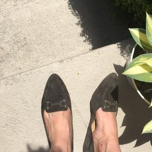 Talbots olive green suede flats